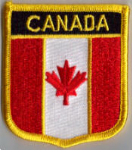 Canada Embroidered Flag Patch, style 07.